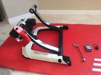 Elite Qubo Digital Cycling Turbo Trainer c/w Elite Display, Elite Mat and Elite Front Wheel Riser.
