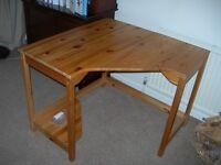 Solid Pine corner desk