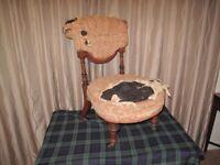 Antique Victorian Nursing Chair for restoration