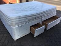 Double divan bed with drawers-£50 delivered