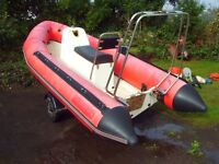 RIB 4 METER PROJECT AND TRAILER needs engine.
