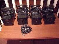 ~~COOL~~JOB LOT OF 4 SOUND LAB DISCO LIGHTS DJ/BAND/STUDIO DUNDEE DELIVER ~~COOL~~