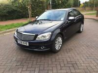 MERCEDES BENZ C220 CDI 2008 (58) BLUE!! GENUINE LOW MILEAGE!! ONLY 77000 MILES!!