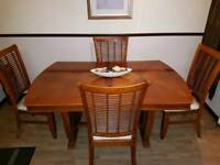 Large Dining table 4 or 6 chairs