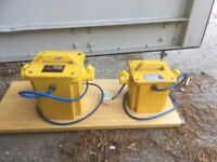 Pair of 110v power tool transformers.