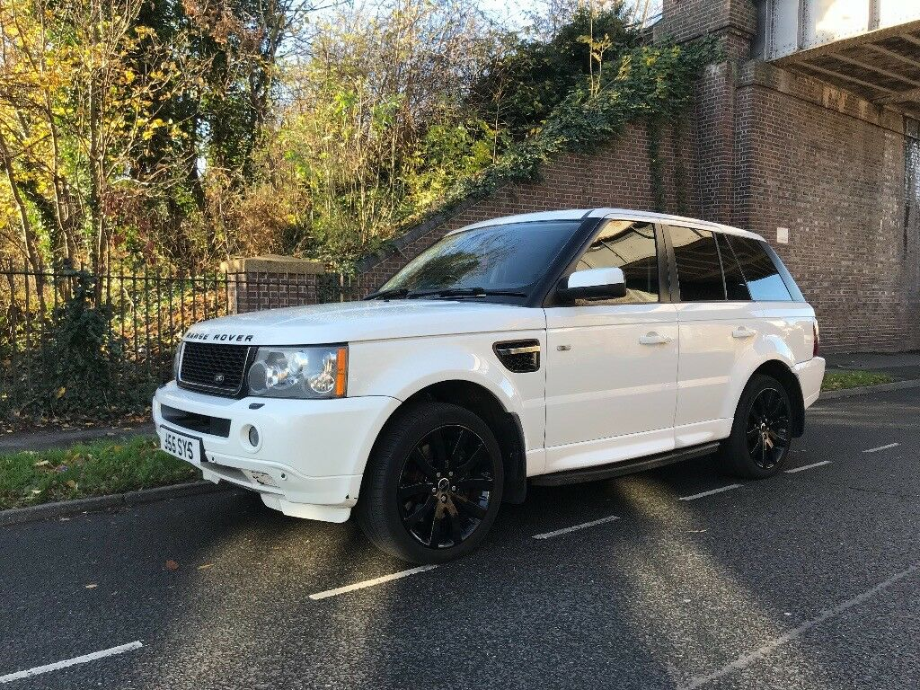 range rover sport 2008 3 6 diesel 12 months mot rare black and white immaculate condition in. Black Bedroom Furniture Sets. Home Design Ideas