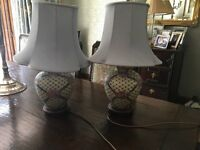 Pretty China table lamps in good condition .