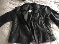 Brand new leather jacket size 14