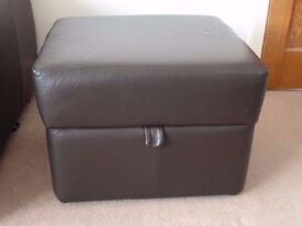 Marks & Spencer Leather Footstool/Footrest with Storage