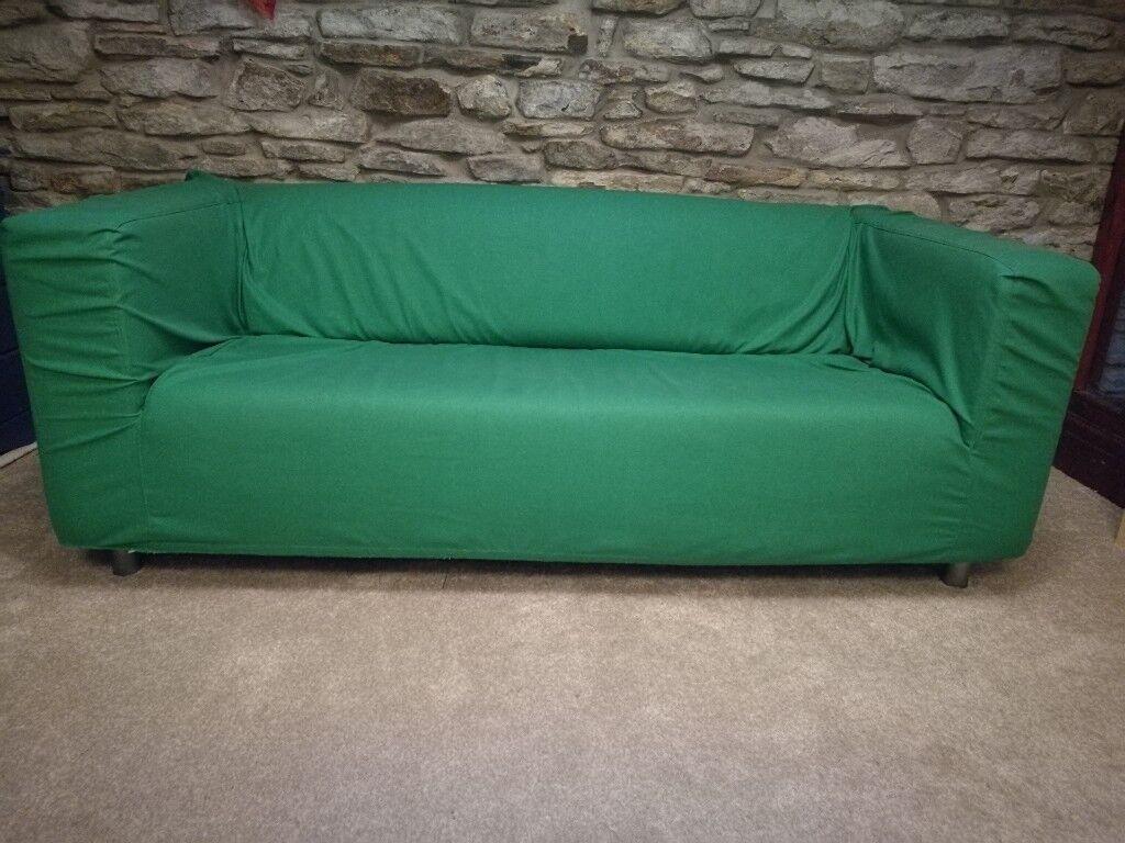 Ikea Klippan Leather Sofa With Cover