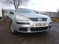 08 VOLKSWAGEN GOLF TDI SPORT DIESEL 1.9,5 DOOR HATCHBACK,MOT JAN 019,2 OWNERS,2 KEYS,PART HISTORY
