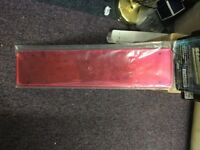 Numbe plate holder red