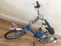 Ralirgh fold up bike barely used