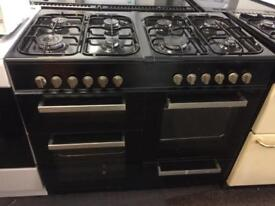 Black belling 100cm eight burners dual fuel cooker grill & double fan ovens with guarantee