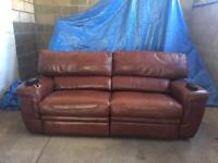 3 seater leather sofa, electric recliner