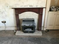 Gas Fire complete with fire place