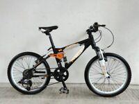 "SERVICED, (4231) 20"" Aluminium CARRERA DETONATE KIDS MOUNTAIN BIKE BICYCLE Age: 7-10, 125-140 cm"