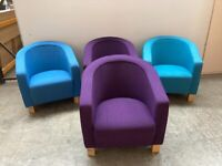 PURPLE FABRIC OFFICE TUB CHAIR,RECEPTION,OFFICE,MEETING. OTHER COLOURS AVAILABLE