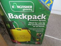 12L Kingfisher knapsack backpack pressure sprayer for water weed killer