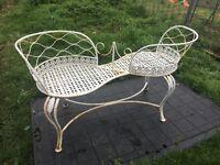 Vintage cast iron love seat