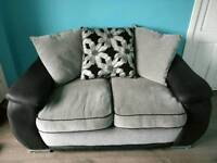 2 seater fabric sofa - great condition