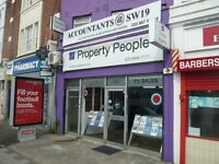 COMMERCIAL SPACE AVAILABLE TO RENT FOR A1/A2 BUSINESS/RETAIL/OFFICE USE IN WIMBLEDON, SW19 @ £1000pm