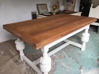 Kitchen Dining Solid Oak Vintage Table
