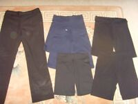 GIRLS SCHOOL TROUSERS,GYM SHORTS,(SOME NEW ) (50P EACH)