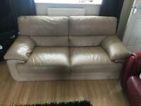 Large 2 Seater sofa and puffy