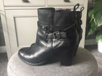 Ladies leather ankle boots