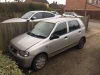 Suzuki alto £30 tax -low miles - long MOT (front window problem)