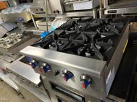 NEW 4 BURNER COOKER CATERING COMMERCIAL KITCHEN FAST FOOD RESTAURANT TAKE AWAY SHOP CAFE KEBAB