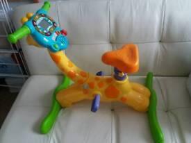 Vtech bounce and ride giraffe kids ride on