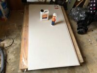 """6 x """"No More Ply"""" 6mm Tile Backer Boards, with primer, adhesive, scoring knife and screws."""
