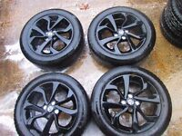 Vauxhall Corsa E SRI / Adam 16 Inch Black Alloy Wheels 13380636 With Tyres
