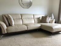 Italian Learher L-Shaped Sofa from DFS