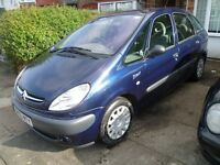 CITROEN PICASSO 1.8L SX, 2004 REG, WITH MOT, LOW MILEAGE, FULL HISTORY, NICE SPEC WITH AIR CON