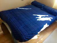 Metal futon with thick sofa/mattress