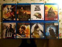 8 blu-ray dvds