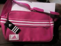 Adidas messenger bag pink new with tag