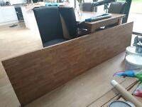 Worktop oak block veneer 242cm (L) x 60cm (w)