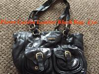Designer bag by Pierre Cardin Black Leather