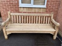 SOLID HEAVY GARDEN BENCH READY FOR PAINTING ETC
