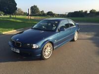 BMW 318CI COUPE, AUTOMATIC, YRS MOT TILL 2017, FULL LEATHER, BLUE, 2001, LOW MILEAGE