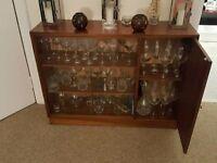 Vintage Wooden Glass Display Cabinet
