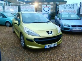 2007 Peugeot 207 1.4 petrol only 73.000 miles full service history very tidy car