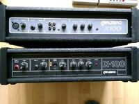2 x Carlsbro X100 PA's