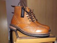 Mens Leather Tan boot