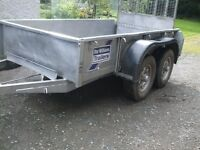 IFOR WILLIAMS GD84 Tandem axle trailer old but sound