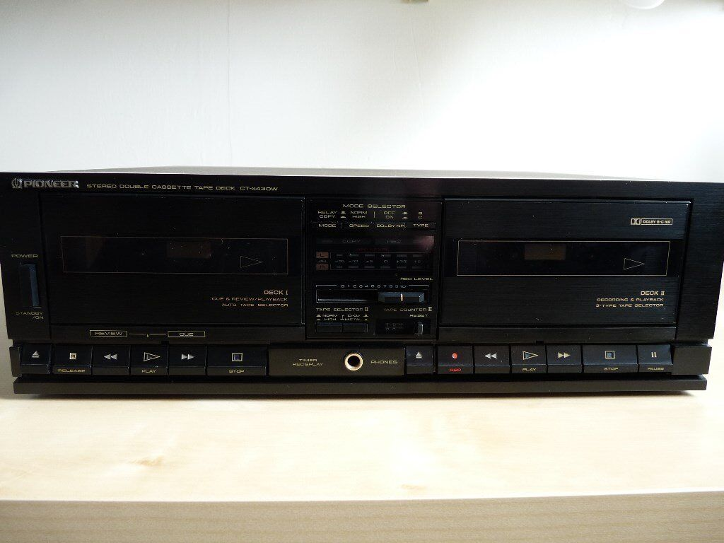 PIONEER STEREO DOUBLE CASSETTE TAPE DECK CT-X430W